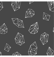 Crystals - seamless hand drawn pattern vector image
