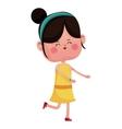 cute girl jump cheerful closed eyes vector image