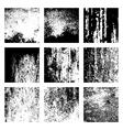 grunge texture overlay set vector image