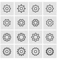 line gear icon set vector image