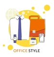 Male office accessories vector image