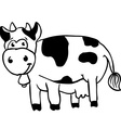 simple black and white cow vector image