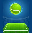 tennis background vector image vector image