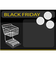 A Shopping Cart on Black Friday Background vector image vector image