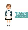back to school kid in uniform vector image