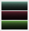 abstract halftone square pattern banner template vector image vector image