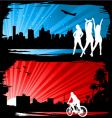 cityscape silhyouettes vector image vector image