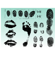 Single black fingerprint - simple monochrome image vector image vector image