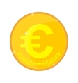 Gold coin with the euro symbol vector image