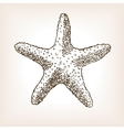Starfish hand drawn seamless pattern vector image