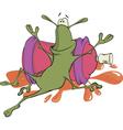 A cockroach and an aerosol spray cartoon vector image