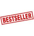 Bestseller red square grunge stamp on white vector image
