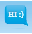 Blue speech web bubble vector image