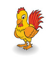 cartoon rooster clipart - vector image