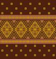 ethnic ornamental geometric pattern vector image