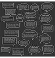Flat Line Speech Bubbles Collection vector image