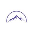 High ice mountain abstract travel logo vector image