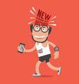 running man new personal record running stats vector image