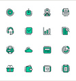 Set of icons of business workflow items and vector image