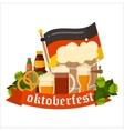 Festive Oktoberfest Banner vector image