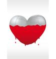 Metallic heart and liquid paint vector image