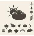 Forecast Icon set vector image
