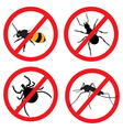 Insect prohibition sign vector image