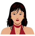 Asian woman face vector image vector image