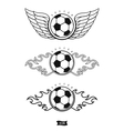 Soccer heraldic icons vector image