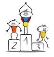Winning podium vector image vector image