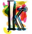 Artistic Font - Letter k vector image