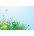 Easter grass vector image vector image