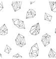 Crystals - seamless hand drawn pattern vector image