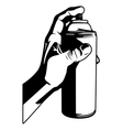 hand with spray paint vector image