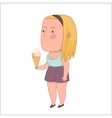 Girl holding ice-cream cone Dodo people vector image