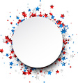 Round background with stars vector image