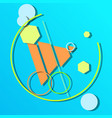 abstract flat icon with long shadow vector image