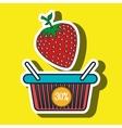 basket red buy fruit vector image