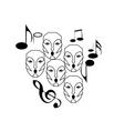 choir singing vector image