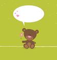 Lovely bear greeting card vector image