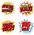 Set of Special Offer Super Sale Crazy SHOP Big vector image