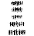 several groups of businessmen vector image