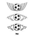 Soccer heraldic icons vector image