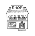 Store sketch with shop signboard vector image