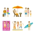 vacation holiday logo design template vector image