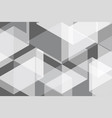 white grey geomatric abstract background vector image