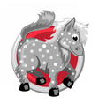 Horse Orient horoscope sign isolated in circle vector image