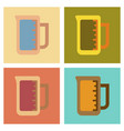 assembly flat icons coffee measuring cup vector image