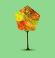 autumn tree in abstract geometry shape style vector image