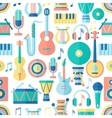 Seamless musical pattern vector image